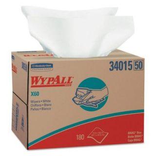 WYPALL X60 White Wipers Brag Box (180 Box) KCC 34015