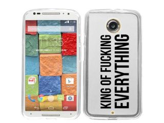 For Motorola Moto E King of Everything Case Cover