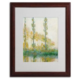 Trademark Fine Art 16 in. x 20 in. The Three Trees Autumn Matted Brown Framed Wall Art BL01185 W1620MF