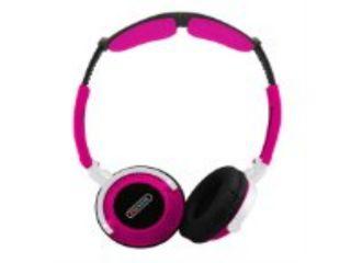 Sentry Head Art DJ Style Over The Head Headphones Pink   Sentry HO403
