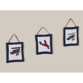 Sweet Jojo Designs 3 Piece Vintage Aviator Collection Wall Hanging Set