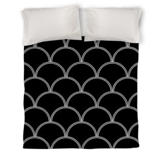 Thumbprintz Art Deco Circles Black and White Duvet Cover