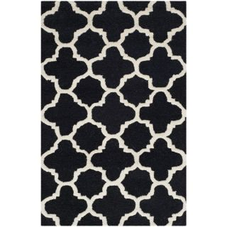 Safavieh Handmade Cambridge Moroccan Black Wool Accent Rug (26 x 4)