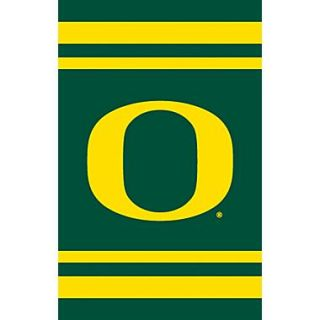 The Party Animal NCAA Appliqu  House Flag; Oregon
