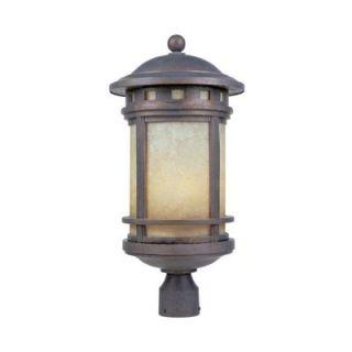 Designers Fountain Mesa 3 Light Mediterranean Patina Outdoor Post Lantern 2396 AM MP