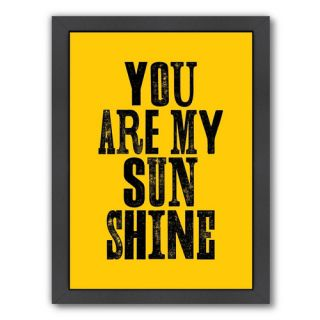 Motivated You Are My Sunshine Framed Textual Art