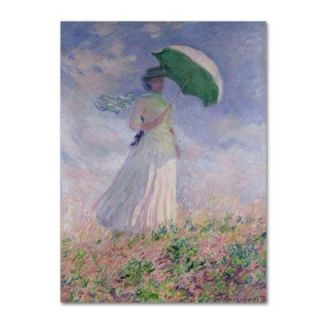Trademark Fine Art 30 in. x 47 in. Woman with a Parasol Canvas Art BL01189 C3047GG