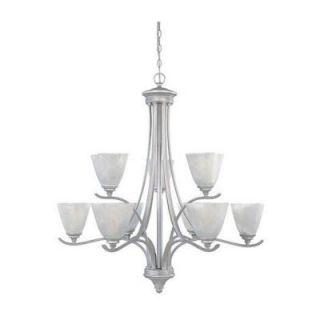 Designers Fountain Pratteln Collection 9 Light Matte Pewter Hanging Chandelier HC0892