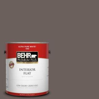 BEHR Premium Plus 1 gal. #T11 8 Back Stage Zero VOC Flat Interior Paint 130001