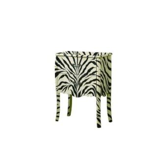Monarch Specialties 32 in. x 24 in. Transitional Bombay Chest in Zebra I 3834