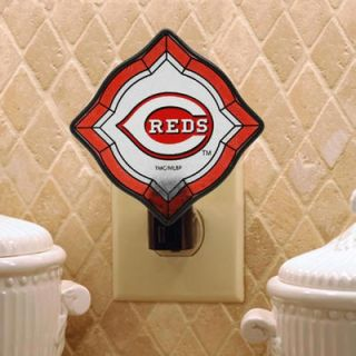 Cincinnati Reds Vintage Art Glass Night Light