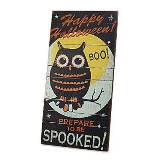DEMDACO Around the Block Happy Halloween Owl Wall Art