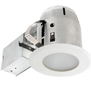 Globe Electric 4 in. White Recessed Shower Light Fixture Kit 90025