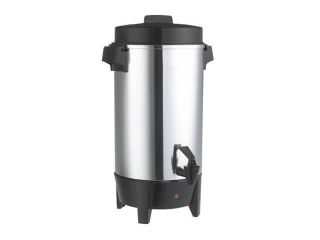 West Bend 58002 Coffee Urn   1090 W   42 Cup(s)   Polished Aluminum   Aluminum