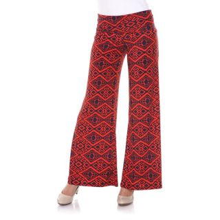 White Mark Womens Peacocks of a Feather Palazzo Pants