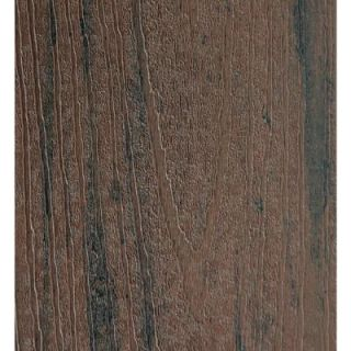 Earthwood Evolutions 15/16 in. x 5.36 in. x 2 ft. Capped Composite Decking Board Sample in Brown Oak SAMP TC2BO