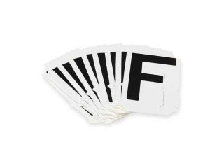 BRADY 5050 F Letter Identification Card, F, PK 10