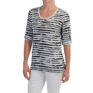 FDJ French Dressing Multi Cloud Stripe Shirt (For Women) 9739N 87