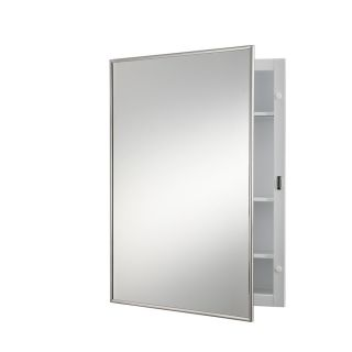 Broan Styleline 22.18 in H x 16.125 in W Stainless Steel Metal Recessed Medicine Cabinet