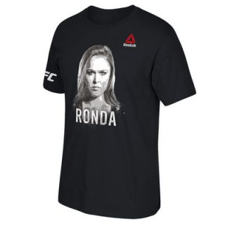 Ronda Rousey UFC 193 Reebok Born Ready Photo T Shirt   Black