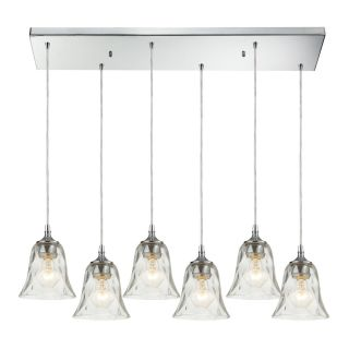 Westmore Lighting Erinfield 30 in Polished Chrome and Clear Glass Mini Clear Glass Pendant