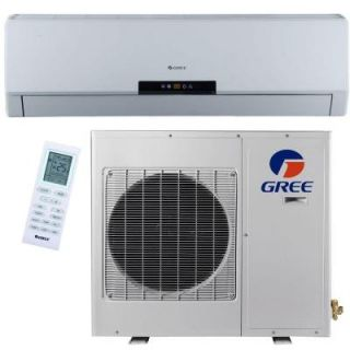 GREE Premium Efficiency 9,000 BTU 3/4 Ton Ductless Mini Split Air Conditioner with Heat, Inverter and Remote   115V/60Hz NEO09HP115V1A