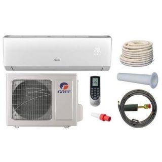 GREE Vireo 12,000 BTU 1 Ton Ductless Mini Split Air Conditioner and Heat Pump Kit   115V/60Hz VIR12HP115V1AKIT