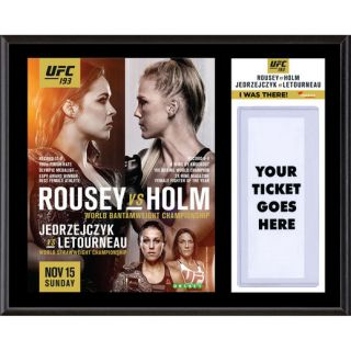 Fanatics Authentic UFC 193 Ronda Rousey vs. Holly Holm Dueling I Was There 12 x 15 Sublimated Plaque