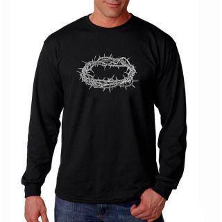 Los Angeles Pop Art Mens Crown of Thorns Long Sleeve T shirt