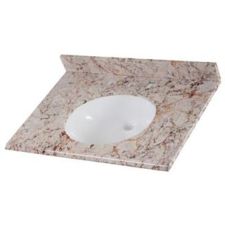 Home Decorators Collection 31 in. Stone Effects Vanity Top in Rustic Gold with White Basin SEO3122 RU