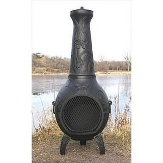 The Blue Rooster Aluminum Natural Gas / Propane Chiminea; Charcoal