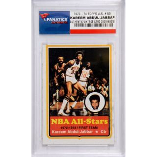 Kareem Abdul Jabbar Milwaukee Bucks 1973 74 Topps All Star #50 Card