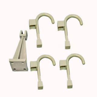 Global Door Controls Wall Hanger and 4 Universal Hooks in Warm Gray S WAL U 05