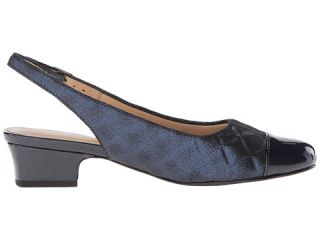 Trotters Dea Navy Quilted/Pearlized Patent