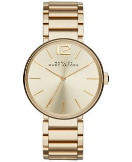 Marc by Marc Jacobs Womens Peggy Gold Tone Stainless Steel Bracelet