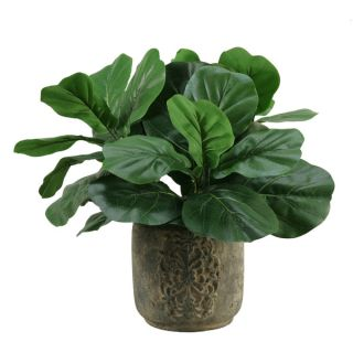 Silks Fiddle Leaf Fig in Stone Planter   17113905