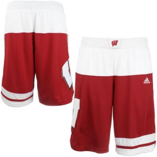 adidas Wisconsin Badgers Cardinal 2015 March Madness Replica Basketball Shorts