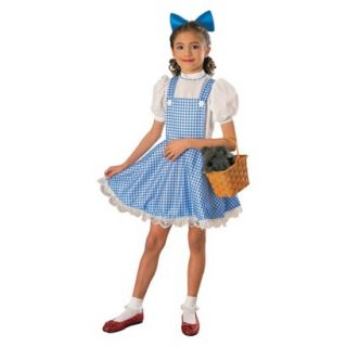 Girls The Wizard of Oz Dorothy Deluxe Costume   Large