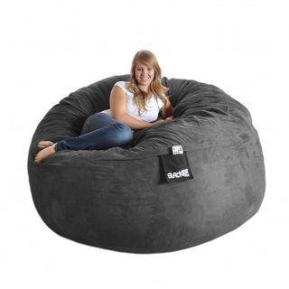 Slacker Sack Round 6 foot Microsuede and Foam Bean Bag   14281542