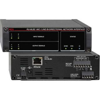 RDL RU MLB2 Mic/Line Level Bi Directional Network RU MLB2