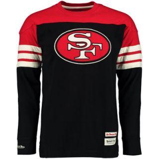 San Francisco 49ers Mitchell & Ness Pump Fake Long Sleeve T Shirt   Black
