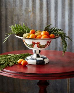 MacKenzie Childs Evergreen Small Compote