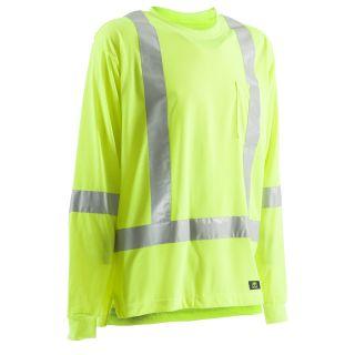 BERNE APPAREL X Large Hi Vis Yellow High Visibility (Ansi Compliant) Enhanced Visibility (Reflective) T Shirt