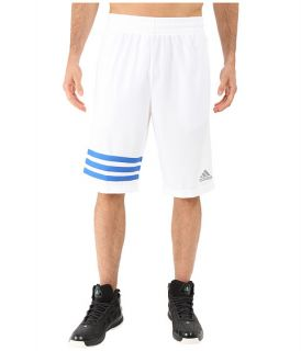 Adidas Made In March 3 Stripe Shorts White Bright Royal, White, Adidas