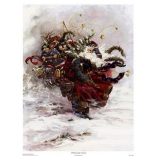 Windswept Santa Poster Print by Peggy Abrams (13 x 17)