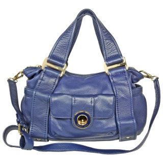 Open Box   Michael Kors Dark Blue Leather Shoulder Satchel Bag