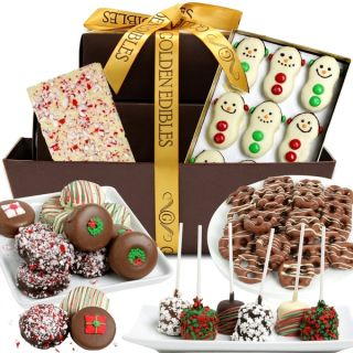 Let it Snow Belgian Chocolate Snacks Gift Basket (28 Pieces)