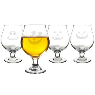 Jack o Lantern Belgian Beer Glasses (Set of 4)   17283508