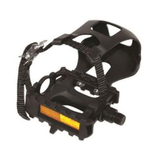 Evo E Sport AT Resin 9/16 inch ATB/Recreational Bicycle Pedals with Toe Clips and Straps   Pair   YH 28X