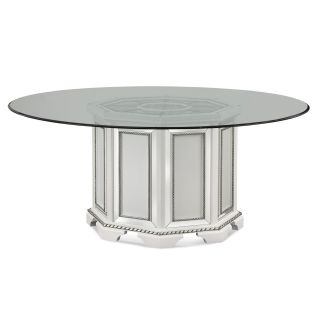 Bassett Mirror 2840 601EC 0905EC Hollywood Glam Armando Dining Table